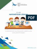 Club Matematicas Ludicas Manual Docente Primaria