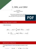 RBM, DBN, and DBM