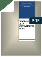 VIOLA- Programación Zamora