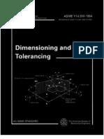 Asme_y145m-1994 Engineering Drawing Dimension Ing and Tolerancing