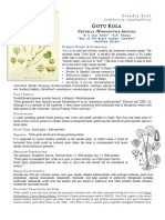 Gotu Kola Centella materia medica herbs