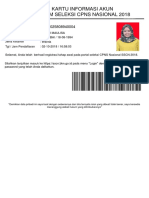 Kartu Peserta Pendaftaran CPNS PUPUT