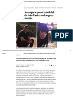 Asturias_ La Policía Asegura Que El Móvil Del Crimen de Iván Castro en Langreo «Fue Pasional»