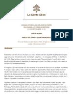 Papa Francesco 20180924 Omelia Lettonia Aglona