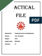 5the Sem Computer Network Lab Manual