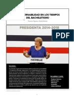 LA GOBERNABILIDAD EN LOS TIEMPOS  DEL BACHELETISMO