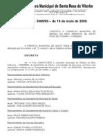 DECRETO N°3080 de 2009 - Nomeação dos membros do Conselho