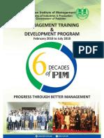 PIM Schedule 2018