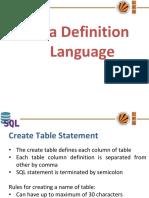 Dbms6_Data Definition Language