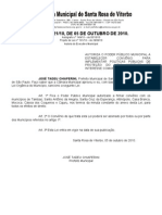 LEI N°3621 de 2010 - Políticas Públicas Meio Ambiente