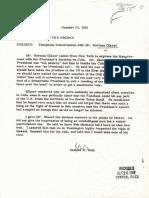 Norman Glazer Telephone Call Summary