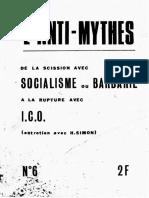 L'Anti-Mythes - 06 - Entretien Avec H. Simon - Scission Avec Socialisme Ou Barbarie