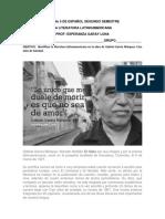 Guia No 5 de Español Segundo Semestre