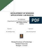 Dwa Using Vc++ _lab_manual-2009