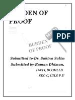 El Proj - Burden of Proof
