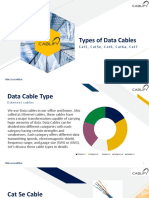 Types of Data Cables - Cat5, Cat5e, Cat6, Cat6a and Cat7