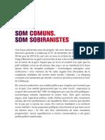 Manifest del sector sobiranista dels comuns