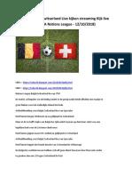 Belgie Zwitserland Kijken Live 1