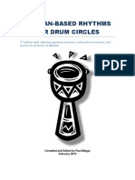 African-based Rhythms for Drum Circles With Added Exercises