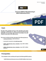 Additive Manufacturing Applications in ANSYS Mechanical R19.1 - Presentation