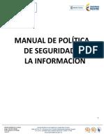 Manual de Política de Seguridad de La Información