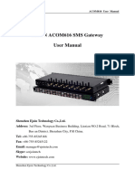 SMS Modem User Manual