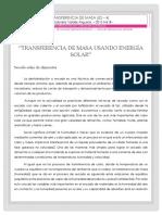 Transferencia de Masa Usando Energía Solar