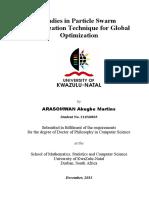Studies in Particle Swarm Optimization Technique for Global Optimization