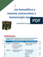 Anemia Hemolitica y Anemia Consecutiva a Hemorragia Aguda