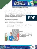 Actividad 8 Evidencia 3 Habilidades Para Una Buena Comunicacion