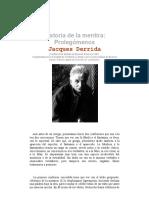 Derrida - Historia de La Mentira