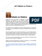 La Técnica Del Tallado en Madera