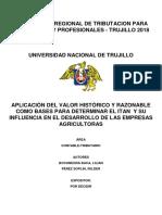 Aplicación Del Valor Histórico y Razonable Como Bases Para Determinar El Itan y Su Influencia en El Desarrollo de Las Empresas Agricultoras - Final