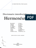 HERMENEUTICA DICCIONARIO VATTIMO