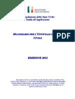 Massimario Ufficiale Stato Civile 2012