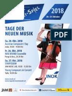 Tage Der Neuen Musik – Programm 2018