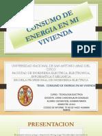 Consumo de Energia Electrica Por Giovan Roel Huamani Ramos