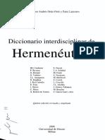 HERMENEUTICA DICCIONARIO CONOCIMIENTO