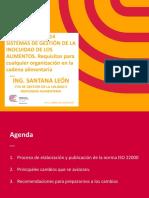 ISO 22K18 Correspondencia ISO22K05