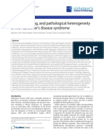 Clinical, imaging, and pathological heterogeneity of the Alzheimer's disease syndrome