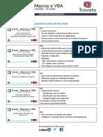 Macros e VBA - Curso Completo - Conteúdo Programático - Versão 2