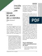 Pablo Richard - Interpretación de los cuatro evangelios desde el Jesús de la historia