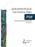Geología Del Yacimiento Polo Sur, Del Sector Centinela Sur, II Región