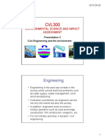 2015 CVL300 Presentation 3 - Civil Engineering and the Environment