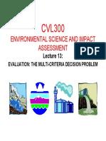 2015 Cvl300 Presentation 13- Evaluation of the Multi-criteria Decision Problem