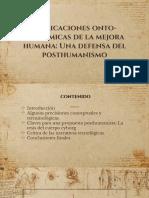 Implicaciones onto-epistémicas de la mejora humana. Una defensa del posthumanismo