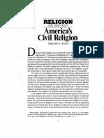 Wolin, America's Civil Religion