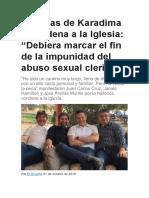 """Víctimas de Karadima y Condena a La Iglesia """"Debiera Marcar El Fin de La Impunidad Del Abuso Sexual Clerical"""""""