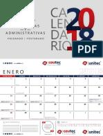 Calendario UNITEC 2018
