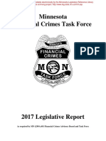 Minnesota Financial Crimes Task Force Legislative Report 2017
